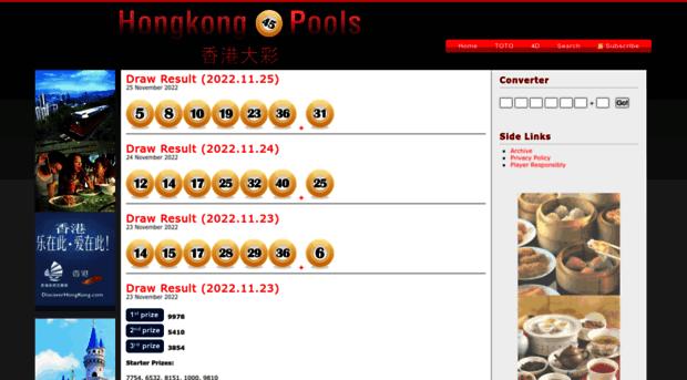 Hkpools Com Hong Kong Pools Hk Pools