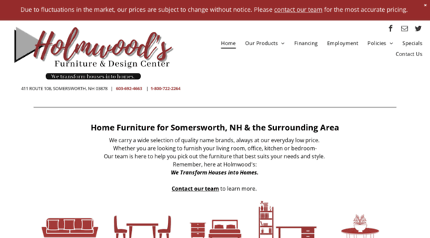 Welcome To Holmwoods Furniture And Decorating Center