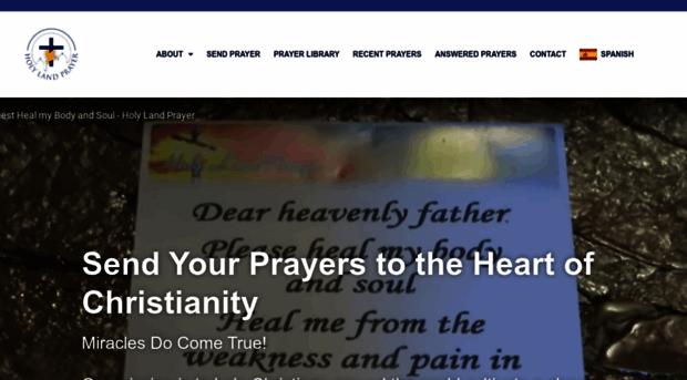 holylandprayer com Prayer Request: Inspiring & Powerful