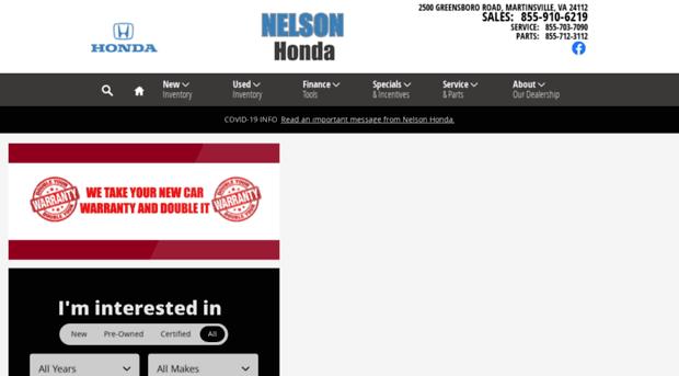 Martinsville Nelson Honda | New U0026 Used Honda Cars
