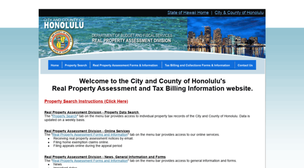 honolulupropertytax com City and County of Honolulu Public