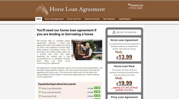 Horseloanagreement Horse Loan Agreement Equine
