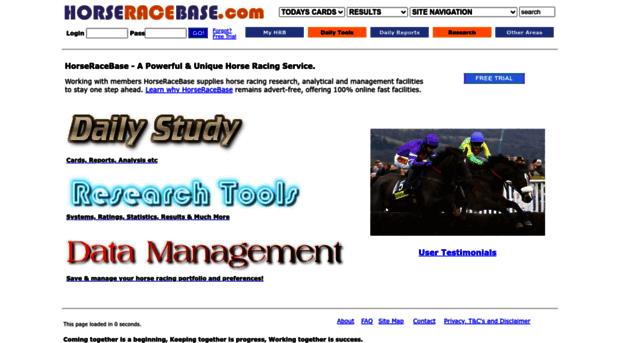 horseracebase com - Horse Racing Database Solution
