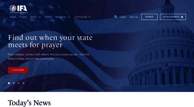 ifapray org Intercessors for America - Praying for Our
