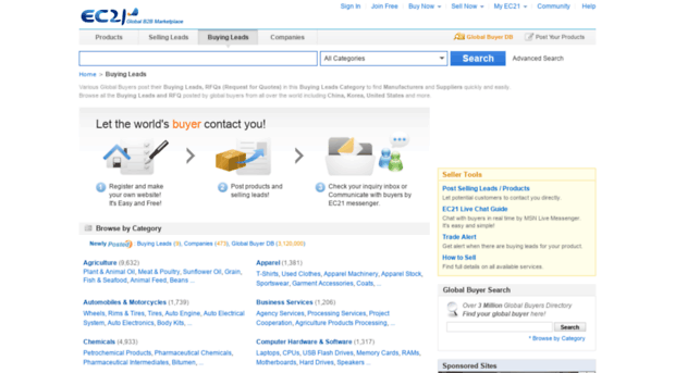 importer ec21 com - Buyers Directory, Buying Leads