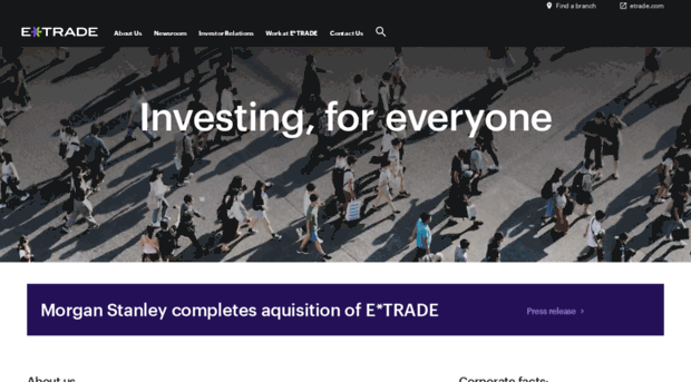 e trade financial corporation case study Settlement proposed in the etrade financial corporation class action for those who held shares of nasdaq: etfc from 04/19/06 through 11/09/07 settlement in the amount of $79,000,000.