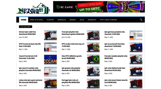iptvsat com - iptvsat   Free Iptv playlist m3u Daily Worldwide channels