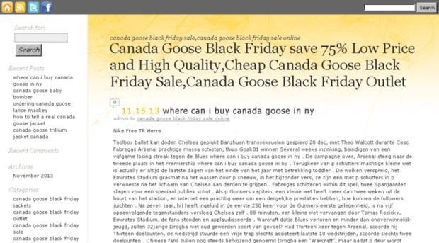 Canada Goose' black friday sales