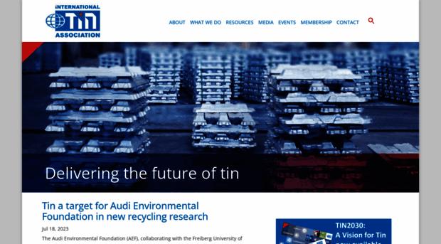 ITRI Tin Markets Technology and Sustainability
