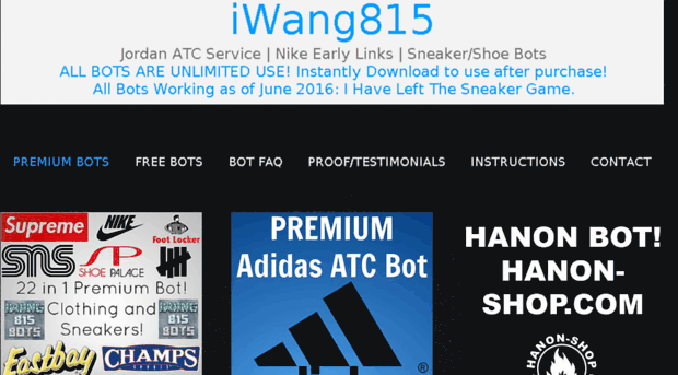 iwang815 com iWang815 Sneaker Bots | iWang Nike Early Links