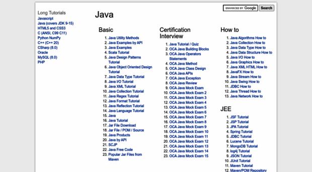 java2s com - Programming Tutorials and Sour    - Java 2 S