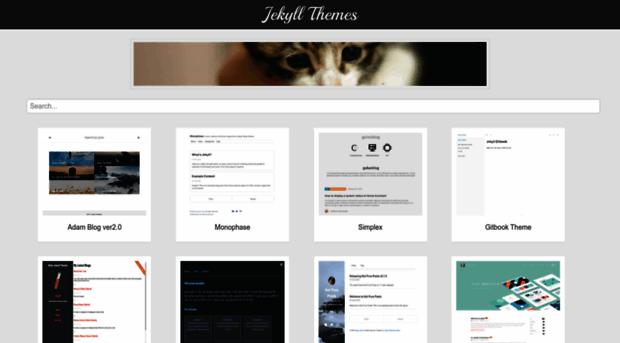 jekyllthemes webpage