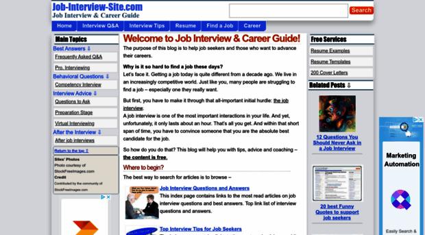 job-interview-site.com - Job Interview & Career Guide - Job ...