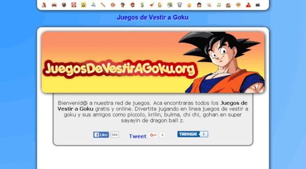 Juegosdevestiragokuorg Juegos De Vestir A Goku Juegos