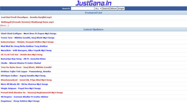 justgana in - justgana in :: Bollywood Mp3 Songs, DJ Remix
