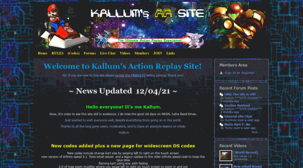 Kallums Ar Codes Webs Com Home Kallum S Action Replay