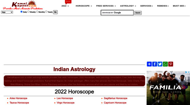 kamalkapoor com - Indian Astrology website - Fre    - Kamalkapoor
