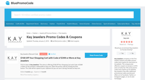 Kay jewelers coupon codes