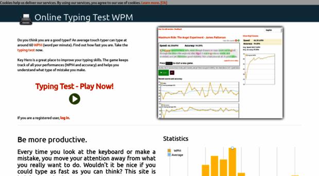 keyhero com - Typing Test · Improve your WPM    - Keyhero