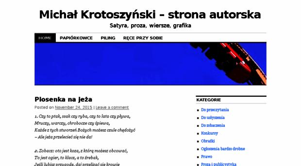 Krotoszynskiwordpresscom Michał Krotoszyński Strona A