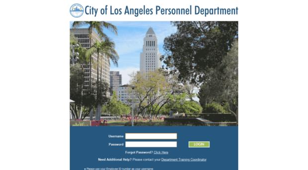 lacity csod com - City of Los Angeles   Personne    - La
