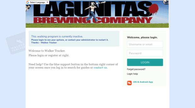 lagunitas walkertracker com login register for the lagunit