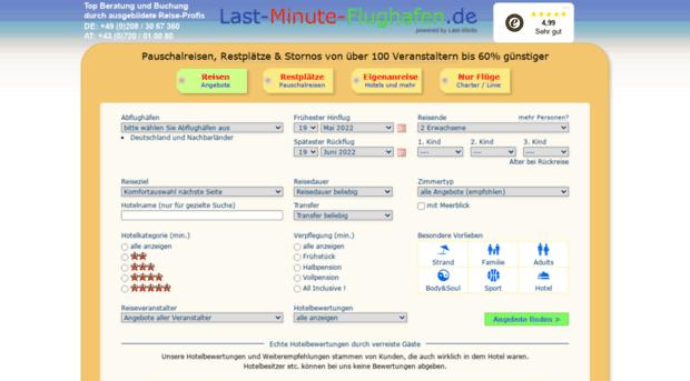 Last Minute Reisen im Vergleich Urlaubsangebote auf check24