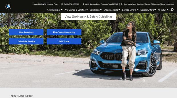 lauderdalebmwofpembrokecom  Pembroke Pines BMW Dealer  Mi