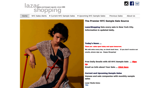 lazarshopping.com - The Premier NYC Sample Sale So... - Lazar Shopping