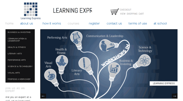 learning exp Learningexpress learningexpress library is an interactive online learning platform featuring over 770 practice tests, tutorials, and e-books related to job search and workplace skills and more.