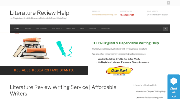 Why Order a Literature Review from Us?