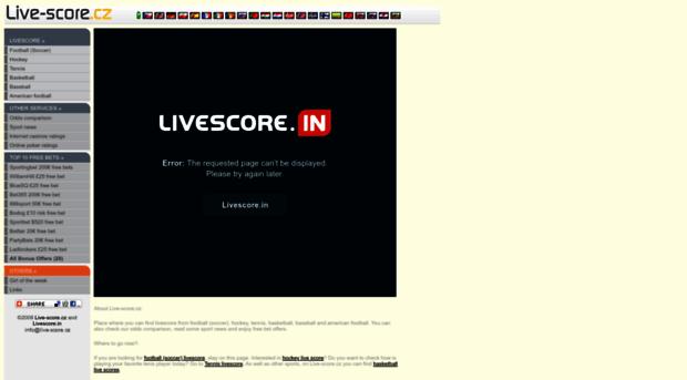 Livescore cz
