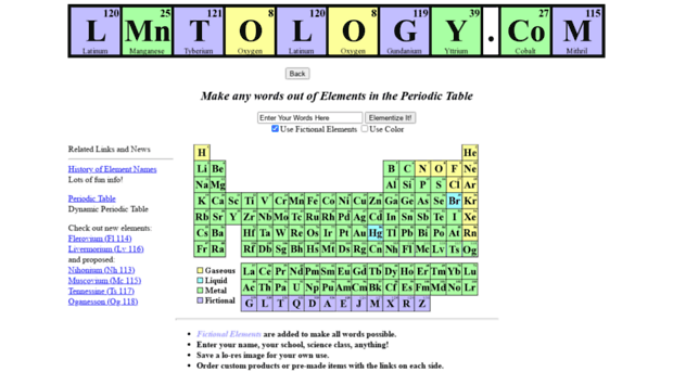 Lmntology find your name in the periodic lmntology keywords words spell periodic table elements name periodic table font periodic table word maker periodic table word generator urtaz Choice Image