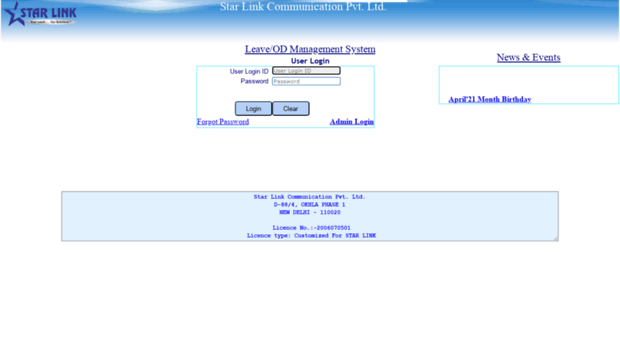 lms starlinkindia com - User Login Page - Lms Starlinkindia