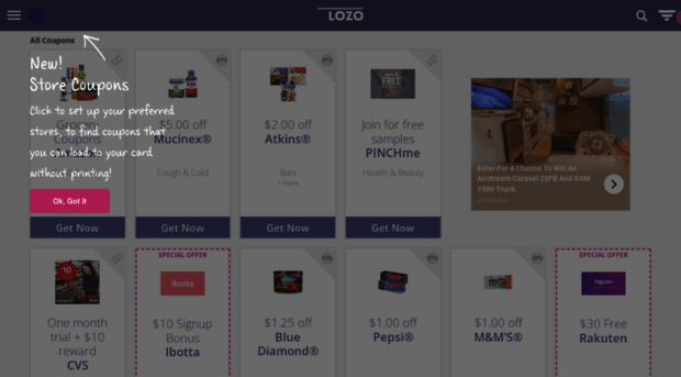 image about Lozo Printable Coupons named Free of charge Printable Grocery Discount coupons: Above 1,000 Discount codes