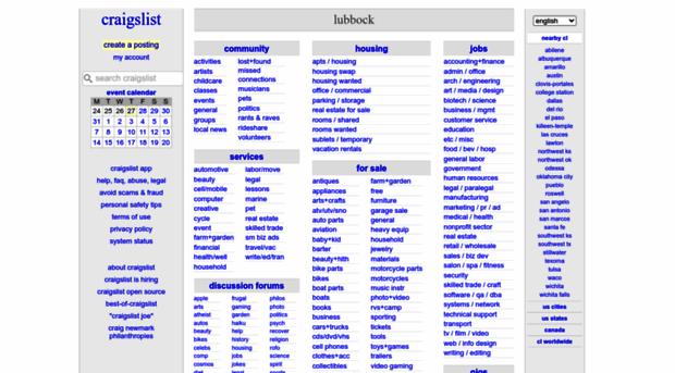 lubbock craigslist org - craigslist: lubbock, TX jobs