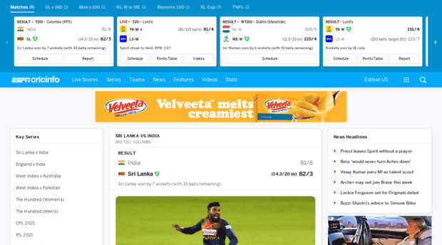 m espncricinfo com - Check Live Cricket Scores, Mat    - M