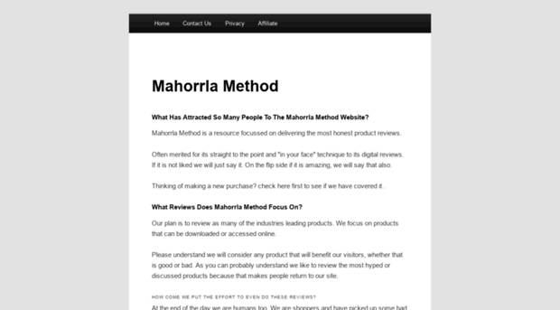 Mahorrlamethodcom Mahorrla Method