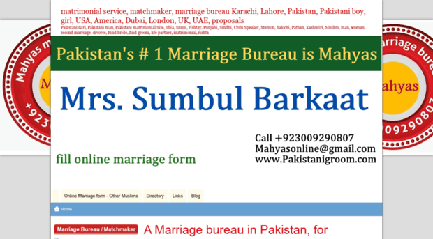 mahyasonline doomby com - an online marriage bureau in P