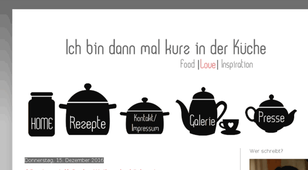 mal-kurz-in-der-kueche.blogspot.com - Ich bin dann mal kurz in der K ...