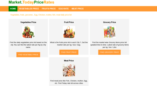 market todaypricerates com - Vegetables, fruits, Grocery, m