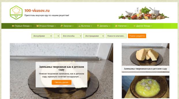 Вкусные сайты рецепты