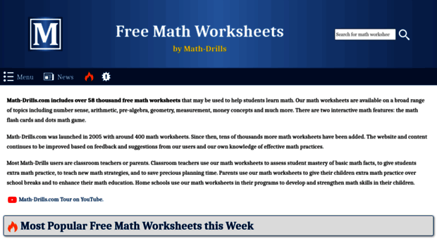 math worksheet : free math worksheets at www math drills com  educational math  : Free Math Worksheets At Www Math Drills Com