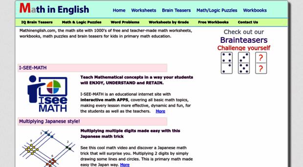 math worksheet : mathinenglish free printable math worksheets  math in  : Math In English Worksheets