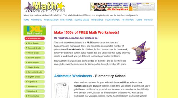 Math Worksheet Wizard First Grade – Math Wizard Worksheet