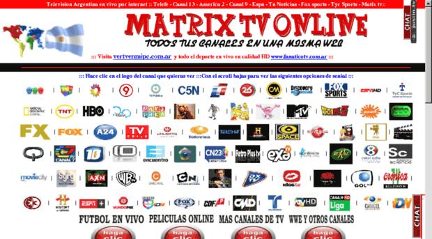 matrixtv com ar - Television en VIVO, Canal 13,     - Matrix Tv