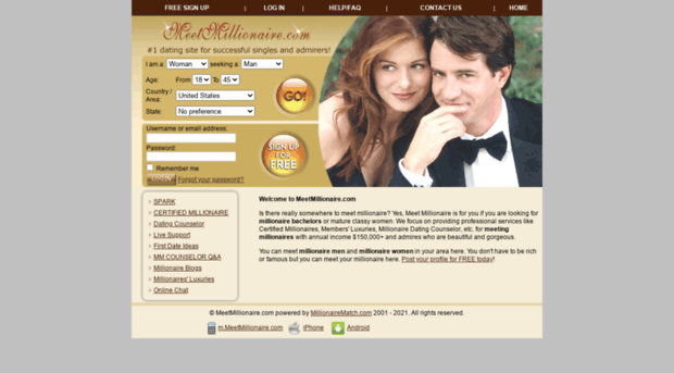 dating sites for rich singles