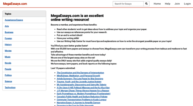 Mega essays contact number