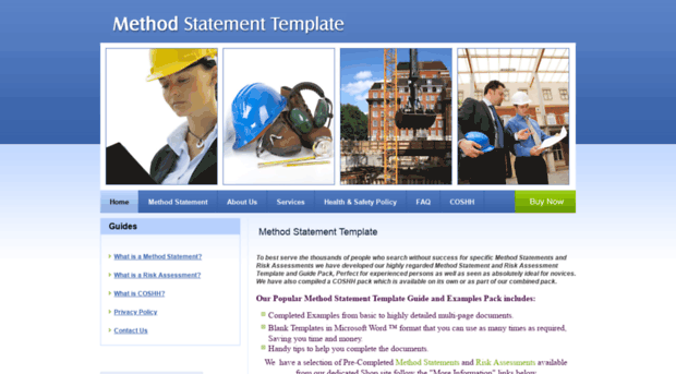 Doc996488 Health and Safety Method Statement Template Safe – Health and Safety Method Statement Template
