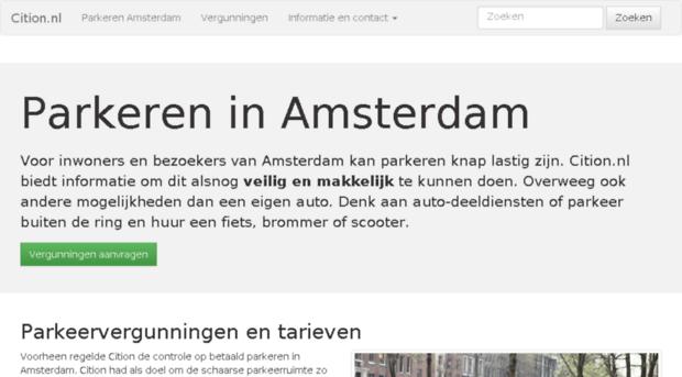 mijn.cition.nl - cition.nl - parkeren amsterdam - mijn cition